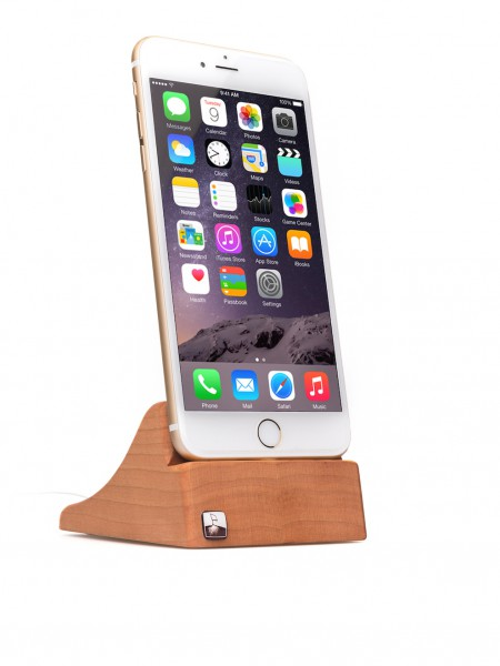 PhoneTray for iPhone 7 Plus made out of Cherry wood