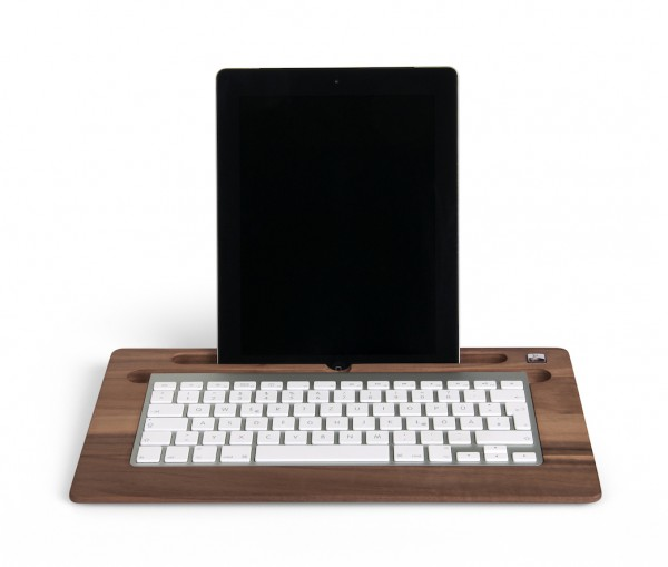 TabletTray (2015 model) made out of Walnut wood