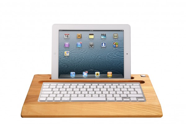 TabletTray (2012 model) made out of Cherry wood