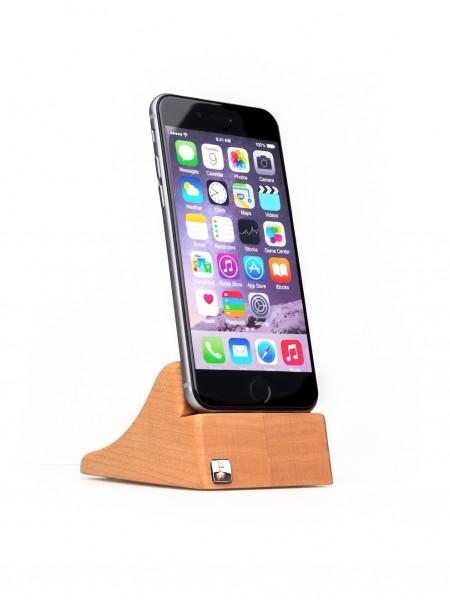 PhoneTray (iPhone 7) aus Kirschbaumholz